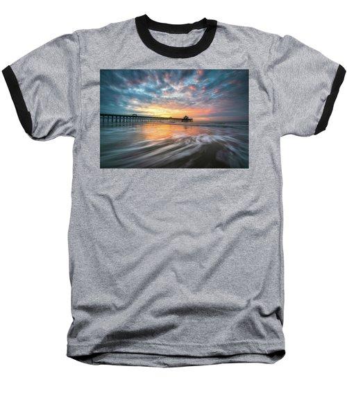 Folly Beach Sc Ocean Seascape Charleston South Carolina Scenic Landscape Baseball T-Shirt