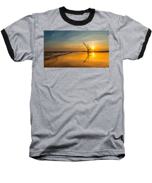 Folly Beach Skeleton Tree At Sunset - Folly Beach Sc Baseball T-Shirt