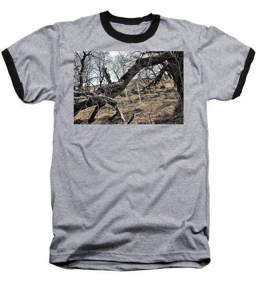 Baseball T-Shirt featuring the photograph Fone Hill Cemetery  by Ryan Crouse