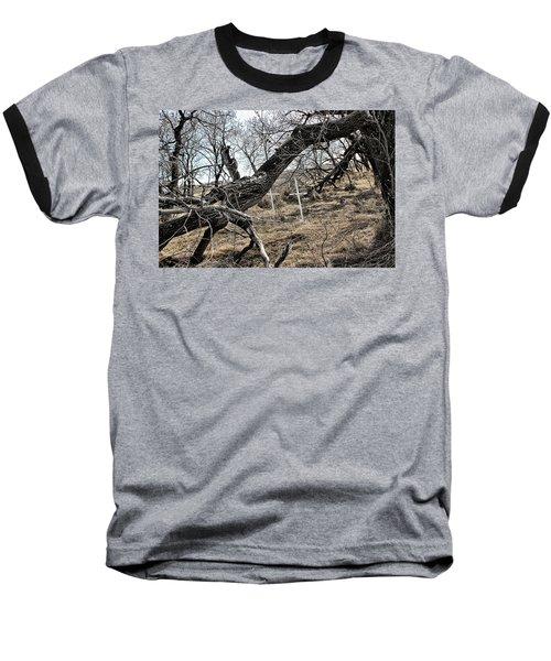 Fone Hill Cemetery  Baseball T-Shirt by Ryan Crouse