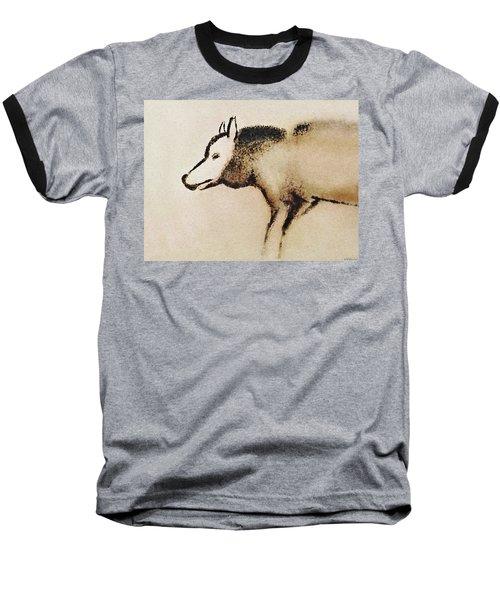 Font De Gaume Wolf Baseball T-Shirt