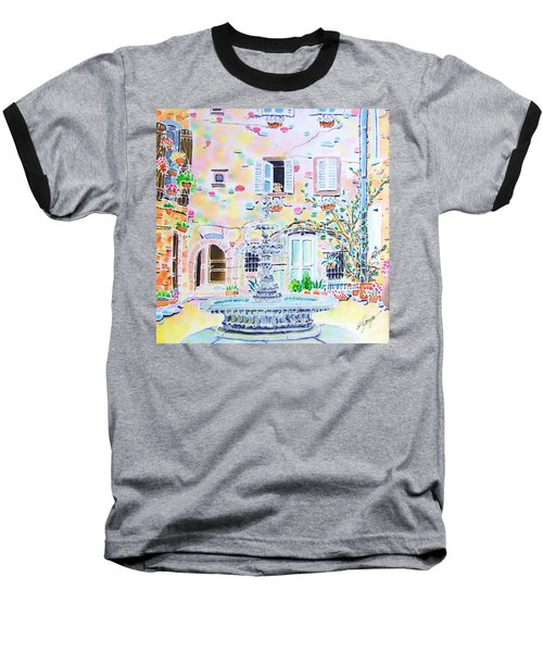 Baseball T-Shirt featuring the painting Fontaine by Hisayo Ohta