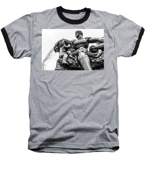 Fontana Di Piazza Solferino-1 Baseball T-Shirt by Sonny Marcyan