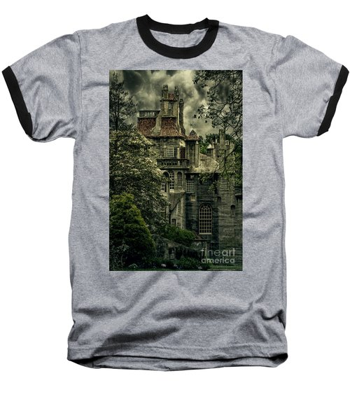 Fonthill With Storm Clouds Baseball T-Shirt