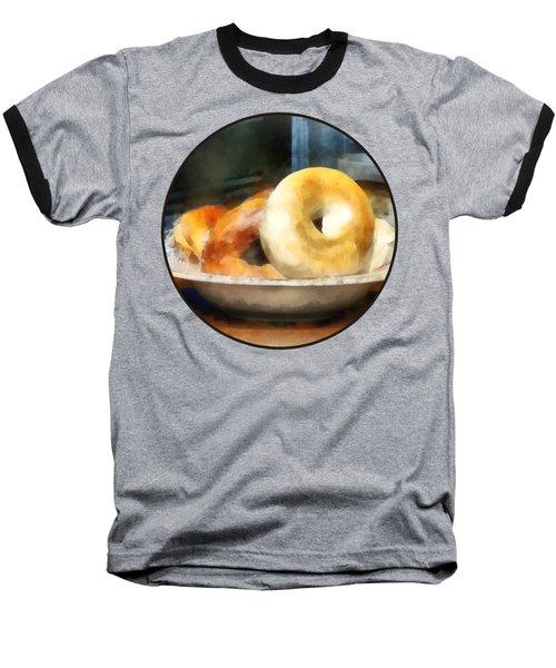 Food - Bagels For Sale Baseball T-Shirt by Susan Savad