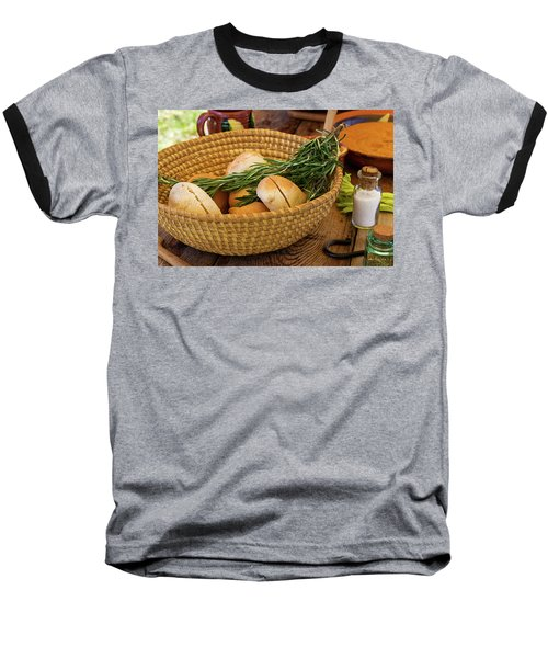 Food - Bread - Rolls And Rosemary Baseball T-Shirt by Mike Savad