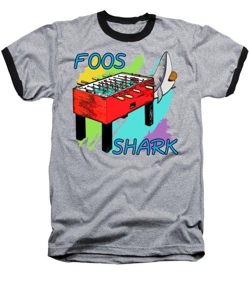 Foos Shark Baseball T-Shirt by David G Paul