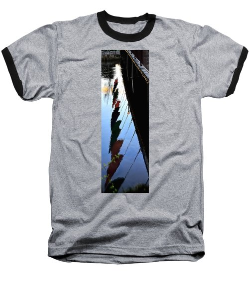 Foot Bridge Reflections 487 Baseball T-Shirt