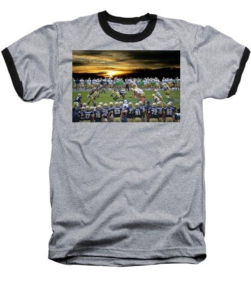 Football Field-notre Dame-navy Baseball T-Shirt by EricaMaxine  Price