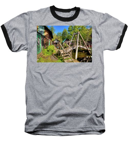 Baseball T-Shirt featuring the photograph Footbridge At Palmer Point by David Patterson