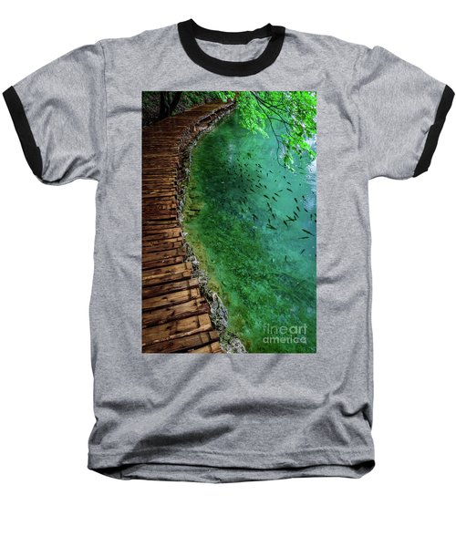 Footpaths And Fish - Plitvice Lakes National Park, Croatia Baseball T-Shirt