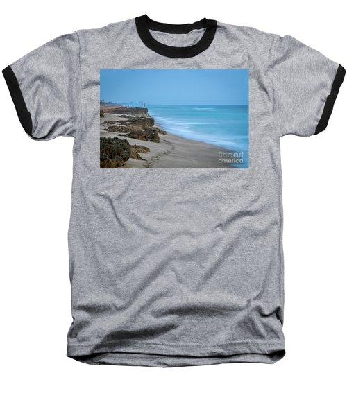 Footprints And Rocks Baseball T-Shirt