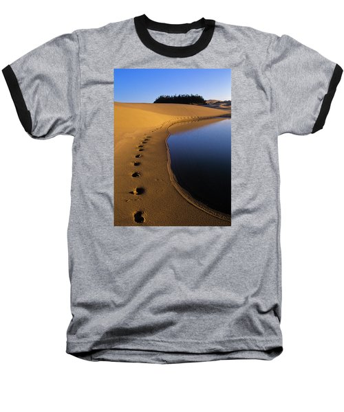 Footprints In The Sand Baseball T-Shirt