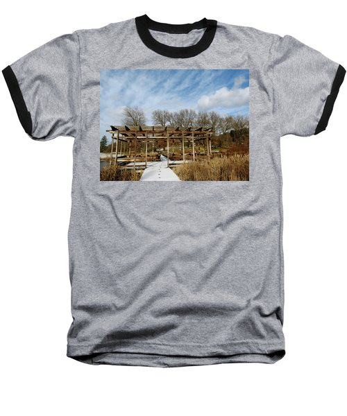 Footprints In The Snow Baseball T-Shirt
