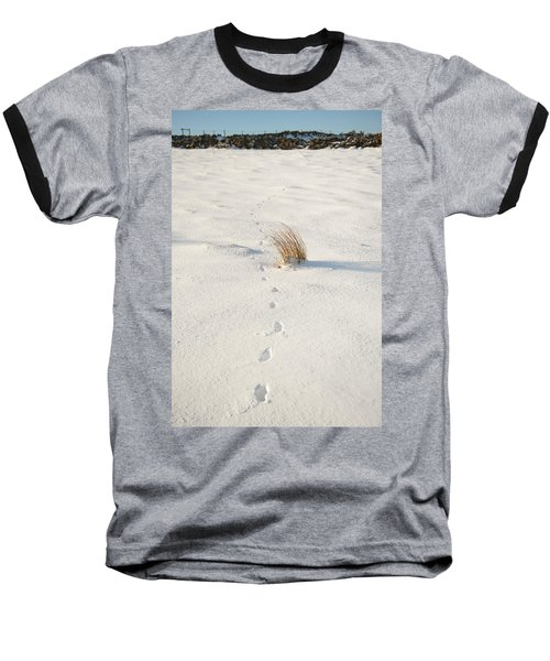 Footprints In The Snow II Baseball T-Shirt