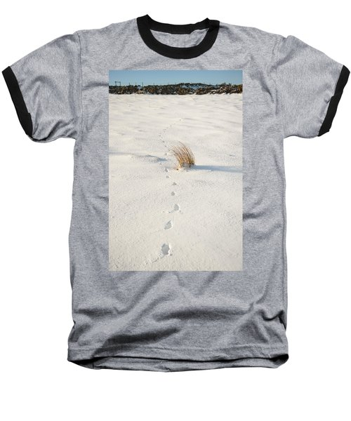 Footprints In The Snow II Baseball T-Shirt
