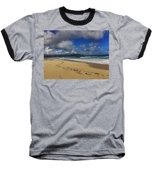 Footprints Baseball T-Shirt