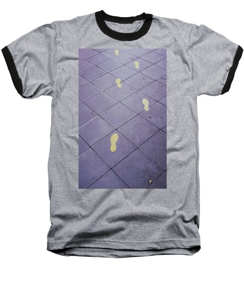 Footsteps On The Street Baseball T-Shirt
