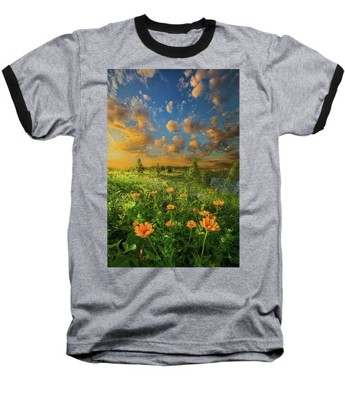 Baseball T-Shirt featuring the photograph For A Moment All The World Was Right by Phil Koch