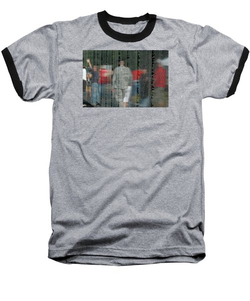 For My Country Baseball T-Shirt by Carolyn Marshall
