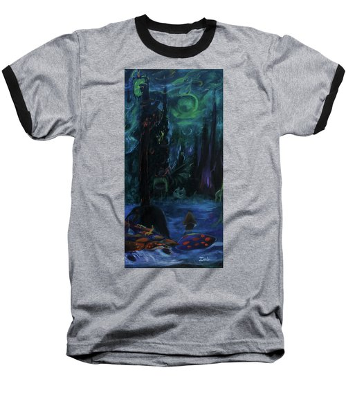 Baseball T-Shirt featuring the painting Forbidden Forest by Christophe Ennis