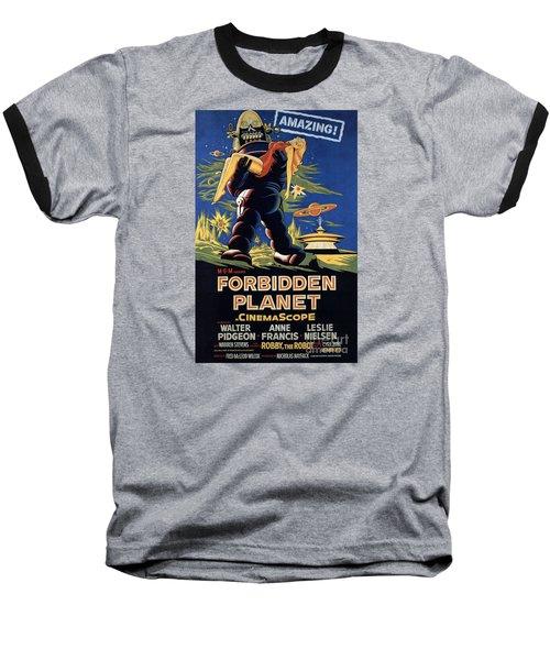 Forbidden Planet Amazing Poster Baseball T-Shirt