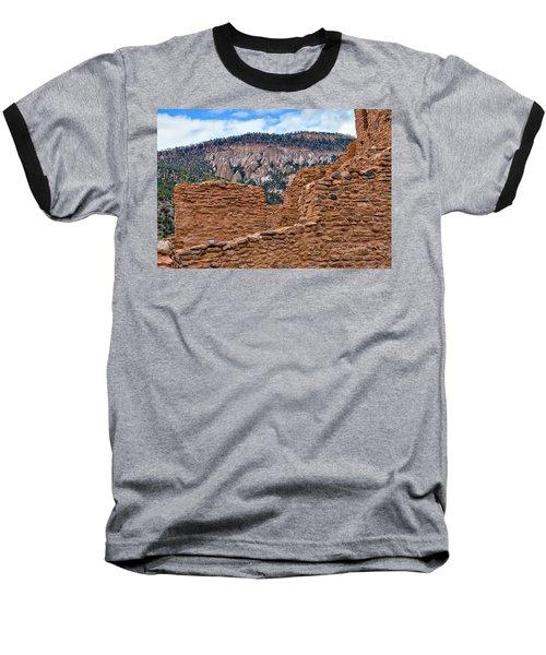 Baseball T-Shirt featuring the photograph Forbidding Cliffs by Alan Toepfer