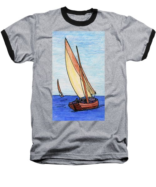 Force Of The Wind On The Sails Baseball T-Shirt