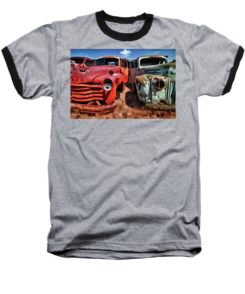 Ford And Chevy Standoff Baseball T-Shirt