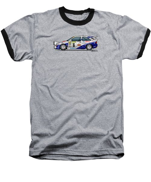 Ford Escort Mk5 Rs Cosworth Group A Rally Monte Carlo 1994 Baseball T-Shirt