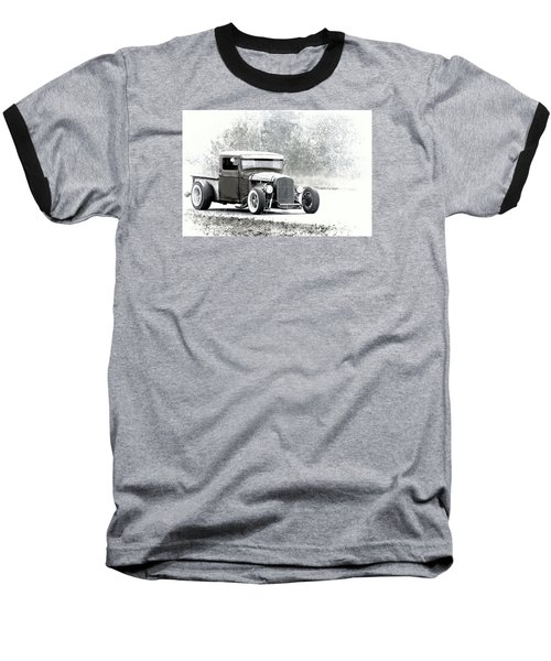 Ford Hot Rod Baseball T-Shirt by Athena Mckinzie
