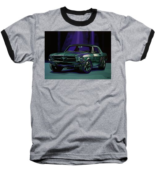 Ford Mustang 1967 Painting Baseball T-Shirt