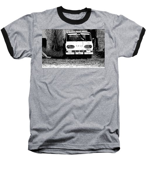 Ford Sketched In Black And White Baseball T-Shirt by Renie Rutten