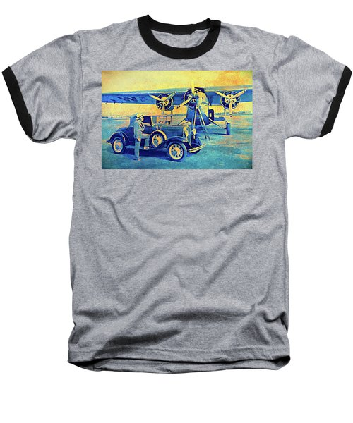 Ford Trimotor And 1931 Model A Roadster Baseball T-Shirt
