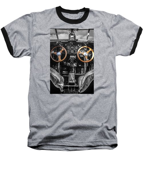 Ford Trimotor Cockpit Baseball T-Shirt