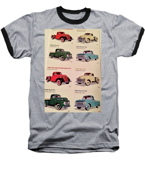 Ford Truck Stamps Baseball T-Shirt by Caroline Stella