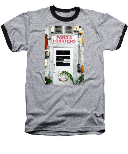 Fords Lobster Baseball T-Shirt by James Kirkikis