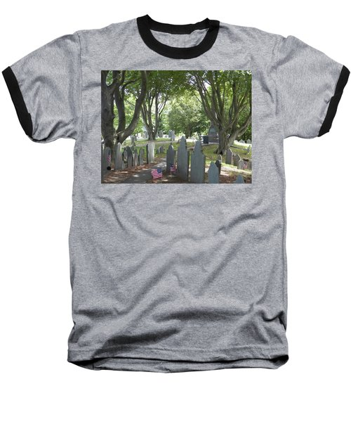 Forefathers' Cemetery Baseball T-Shirt