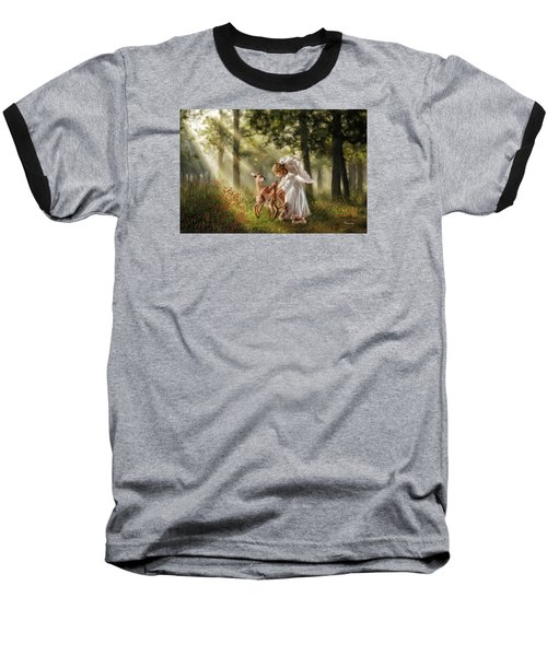 Forest Angel Baseball T-Shirt