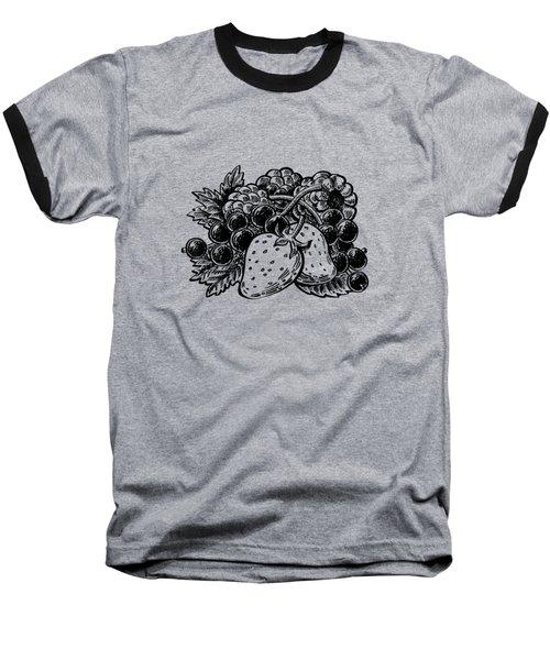 Forest Berries Baseball T-Shirt by Irina Sztukowski