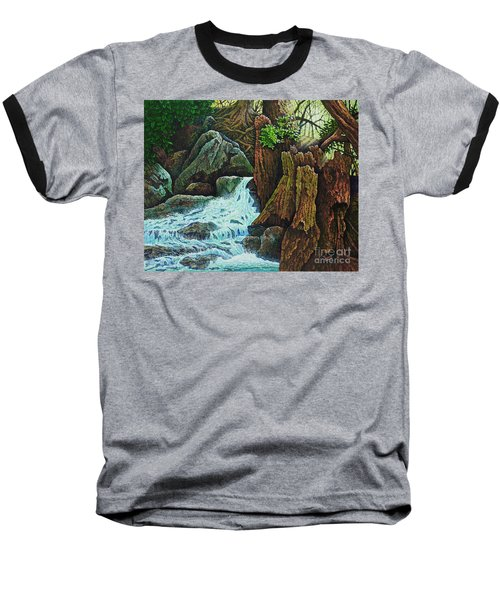 Baseball T-Shirt featuring the painting Forest Brook IIi by Michael Frank