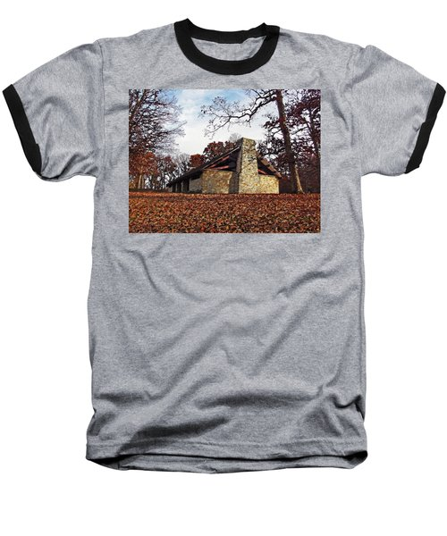 Forest Field House 3 Baseball T-Shirt by Cedric Hampton