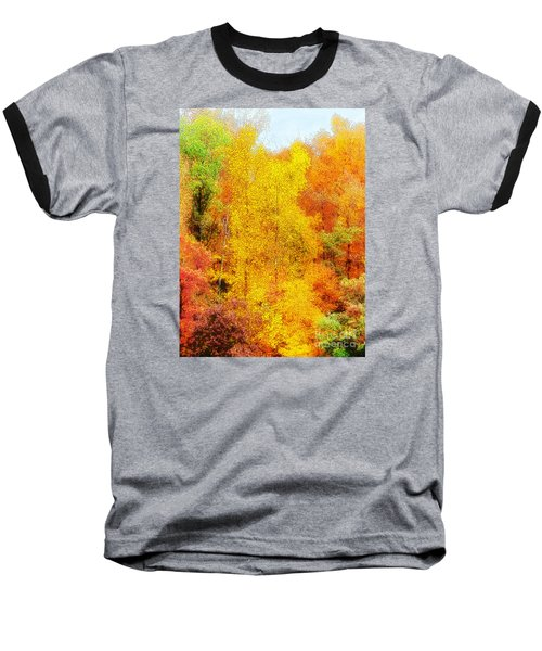 Forest Fire Baseball T-Shirt by Craig Walters