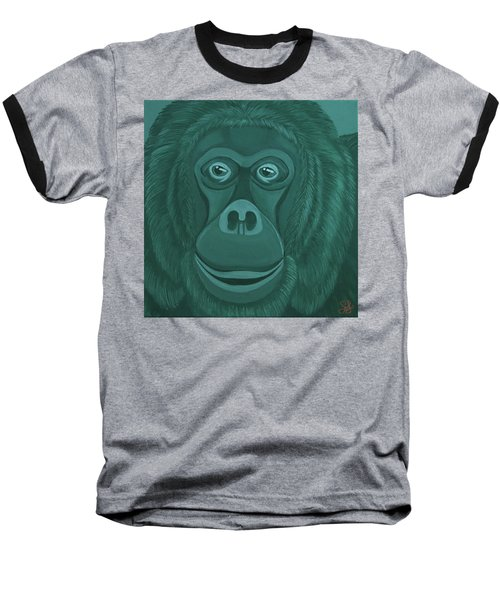 Forest Green Orangutan Baseball T-Shirt