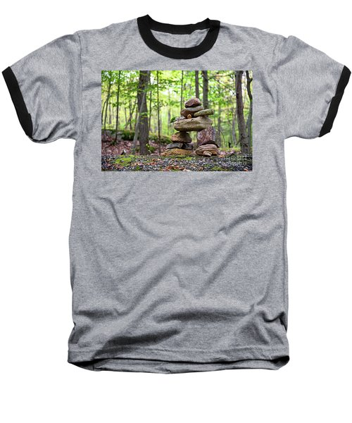 Forest Inukshuk Baseball T-Shirt