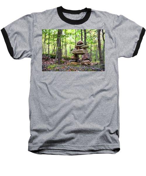 Forest Inukshuk Baseball T-Shirt