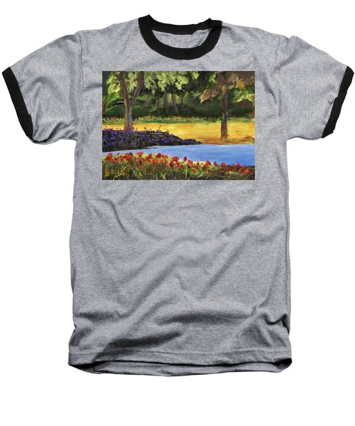 Baseball T-Shirt featuring the painting Forest Lake by Jamie Frier