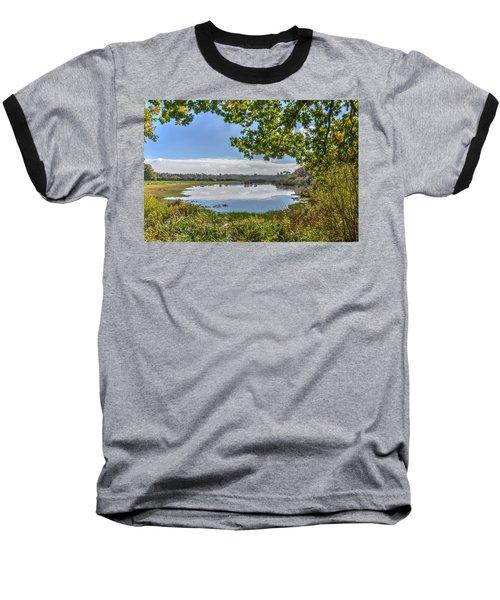 Forest Lake Through The Trees Baseball T-Shirt