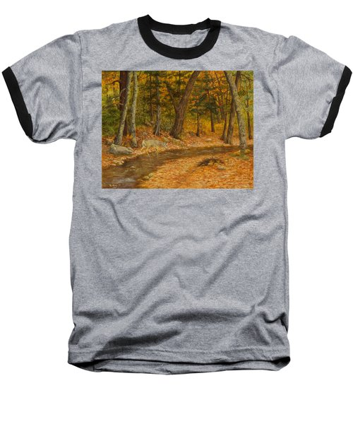 Forest Life Baseball T-Shirt by Roena King