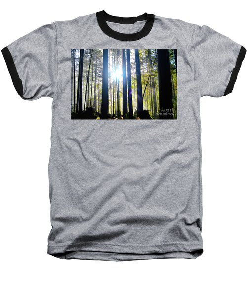 Forest Light Rays Baseball T-Shirt